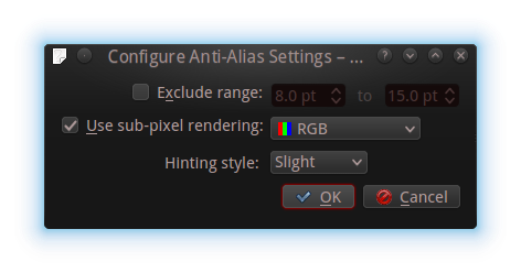 Anti alias settings