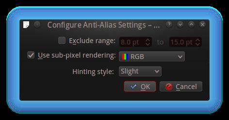 Anti alias settings