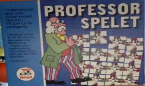 Framsidan på karotngen till Professor Spelet