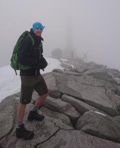 Me standing near the top of Snøhetta