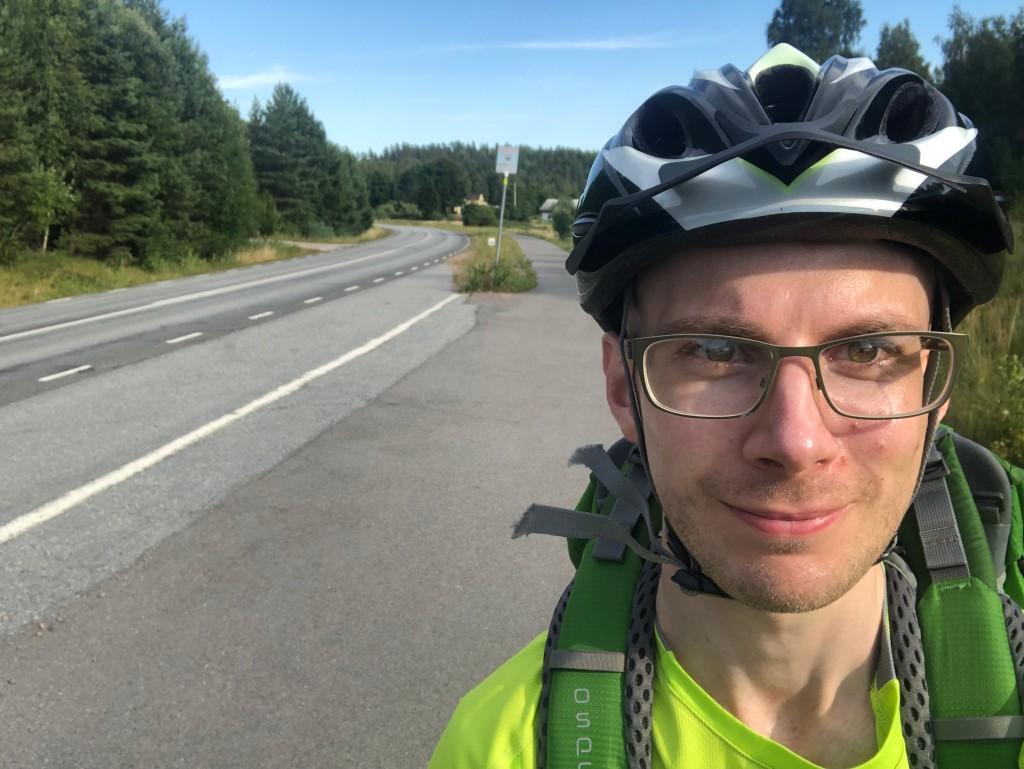 Selfie på mig i närheten av Askersund.